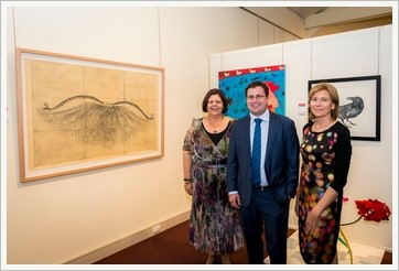 Above image L - R: Mayor Gail Sellers, Jeremy Hastings, Manager Community Relations Gladstone, Rio Tinto Alcan Yarwun and Queensland Alumina Ltd, 2014 Judge Marian Drew, Associate Professor,