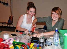 Heather Cusack and Nikki Aitkenhead participate in the HOME project.