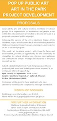 Pop Up Public Art, Art in the Park Project Development Flyer - Proposals
