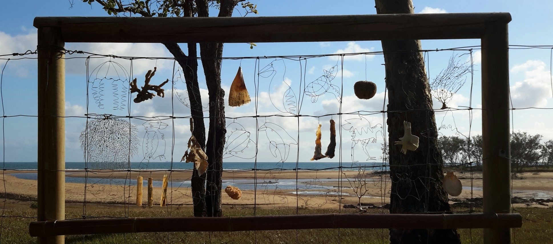 Beach Fence Quilt (2016) by Rosemary Anderson, Millennium Esplanade Parklands, Tannum Sands (Image: courtesy of the artist)