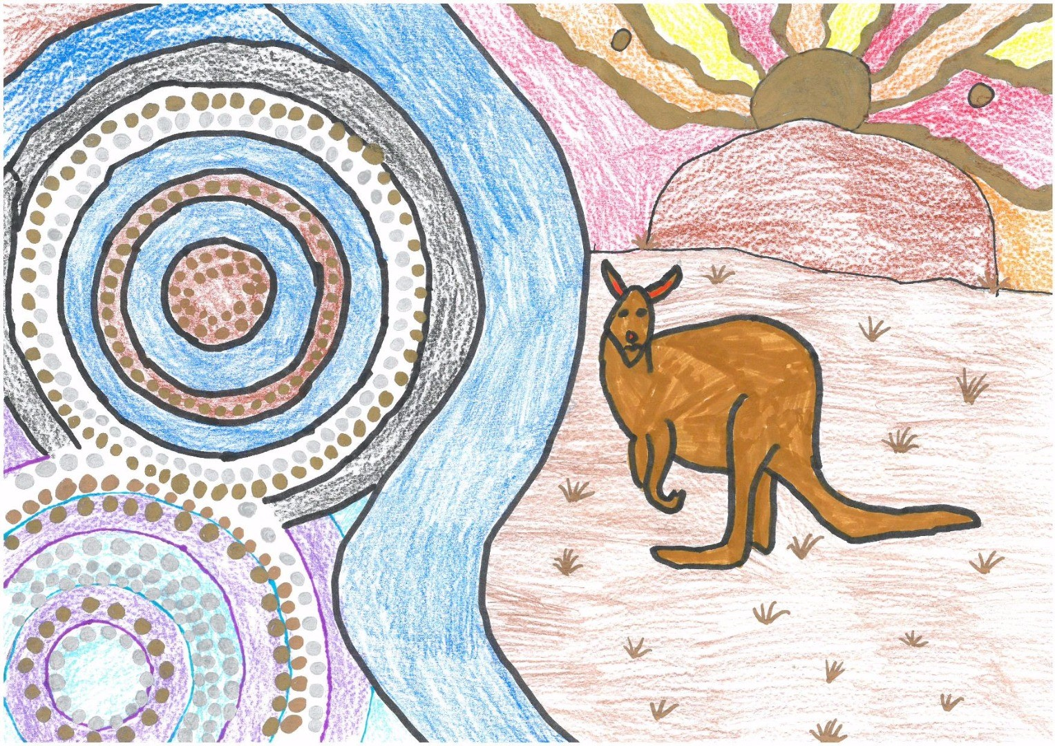 2017 Celebrate Australia Primary School Art Competition Third Place Section Two: My Home Australia by Cadence Ware