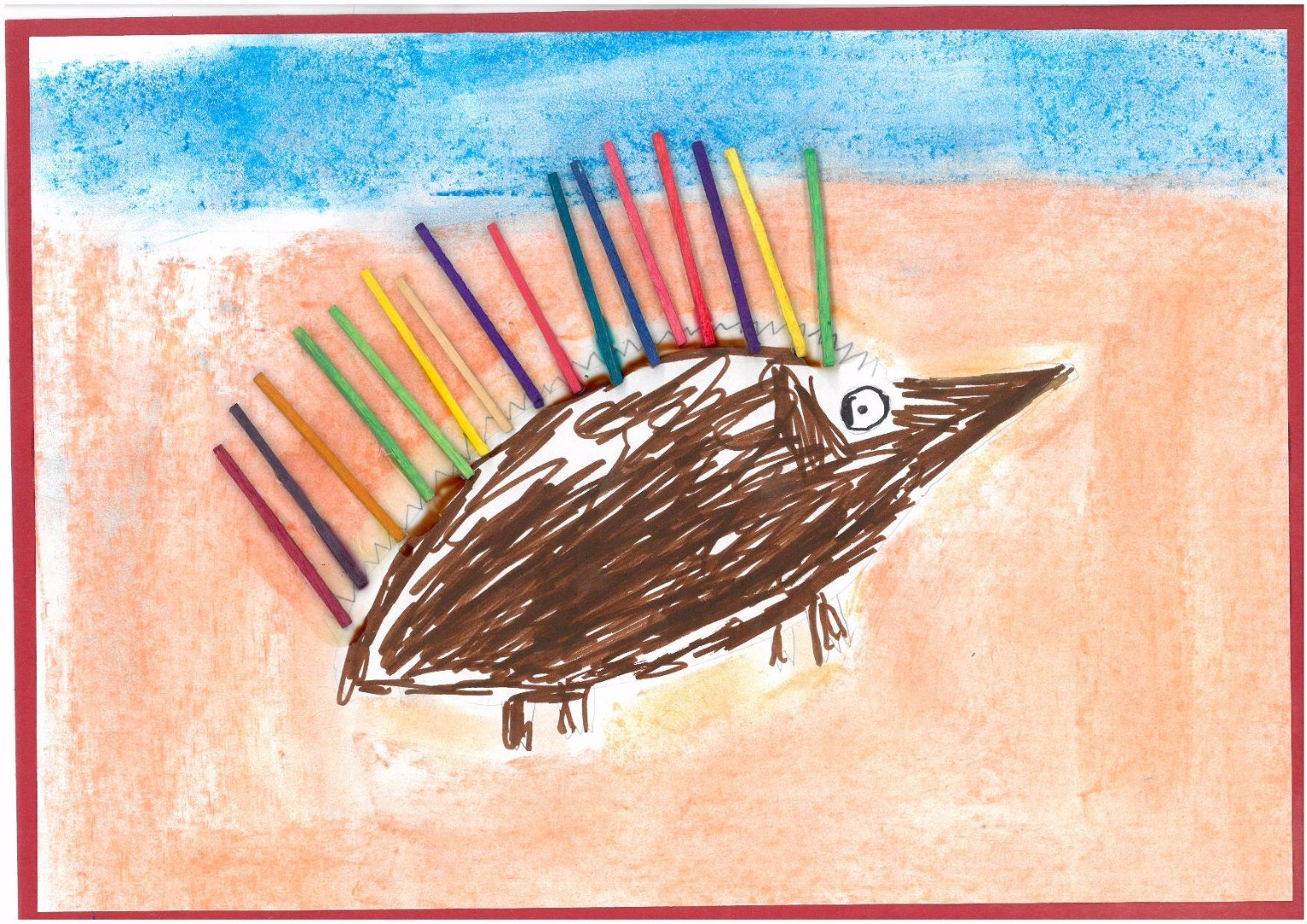 2017 Celebrate Australia Primary School Art Competition Second Place Section One: Echidna in the Desert by Noah Coster