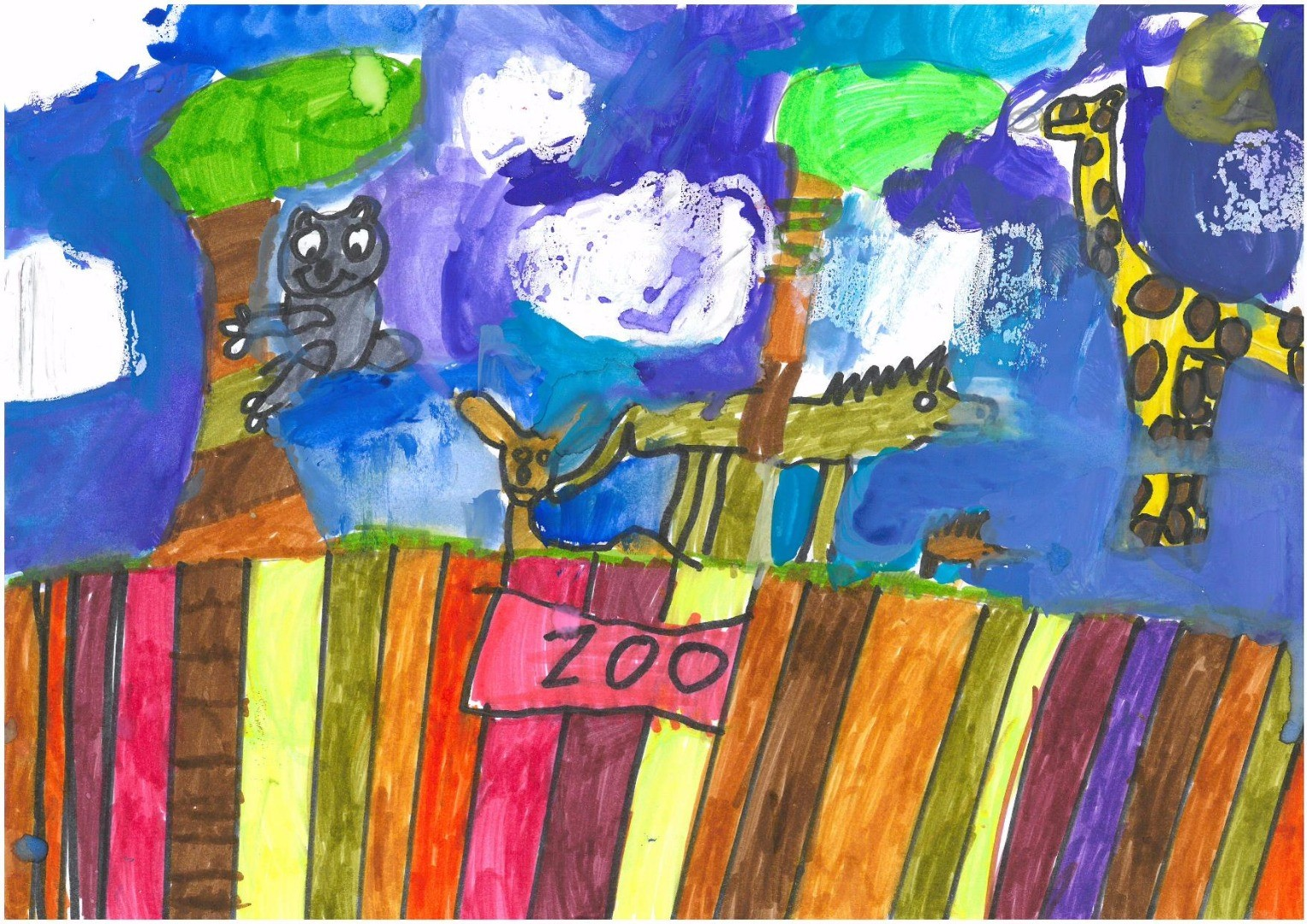 2017 Celebrate Australia Primary School Art Competition Highly Commended Section One: Australia Zoo by Skylah Carlyon,