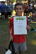 Ashton Little, 2017 Celebrate Australia Primary School Art Competition First Prize Section One Winner, at the Gladstone Regional Council Australia Day Celebrations and Awards Presentation. Image: D. Paddick