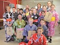 2016 Saiki Children's Day Kimino and Happy Coat Dress Ups with students and teachers from Gladstone South State School