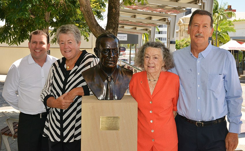 Portrait bust honours the late Cyril Golding's contributions to the region