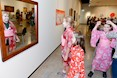 Kin Kora State Students dressing up in traditional Kimonos in O'Connell Gallery, Saiki Children's Day 2017. Photograph: Photopia