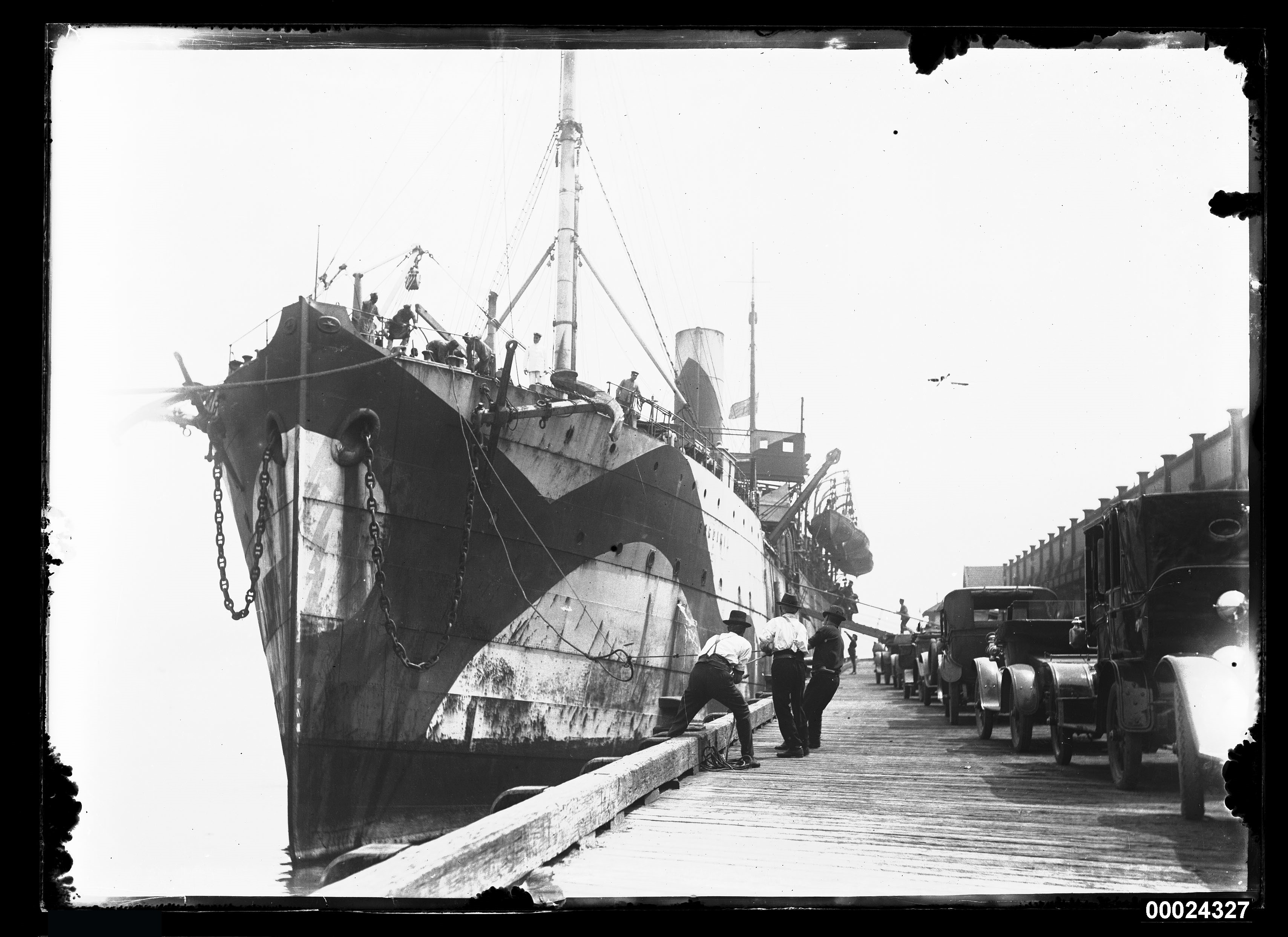 P&O Line steamship SARDINIA in WWI dazzle camouflage, ANMM Collection