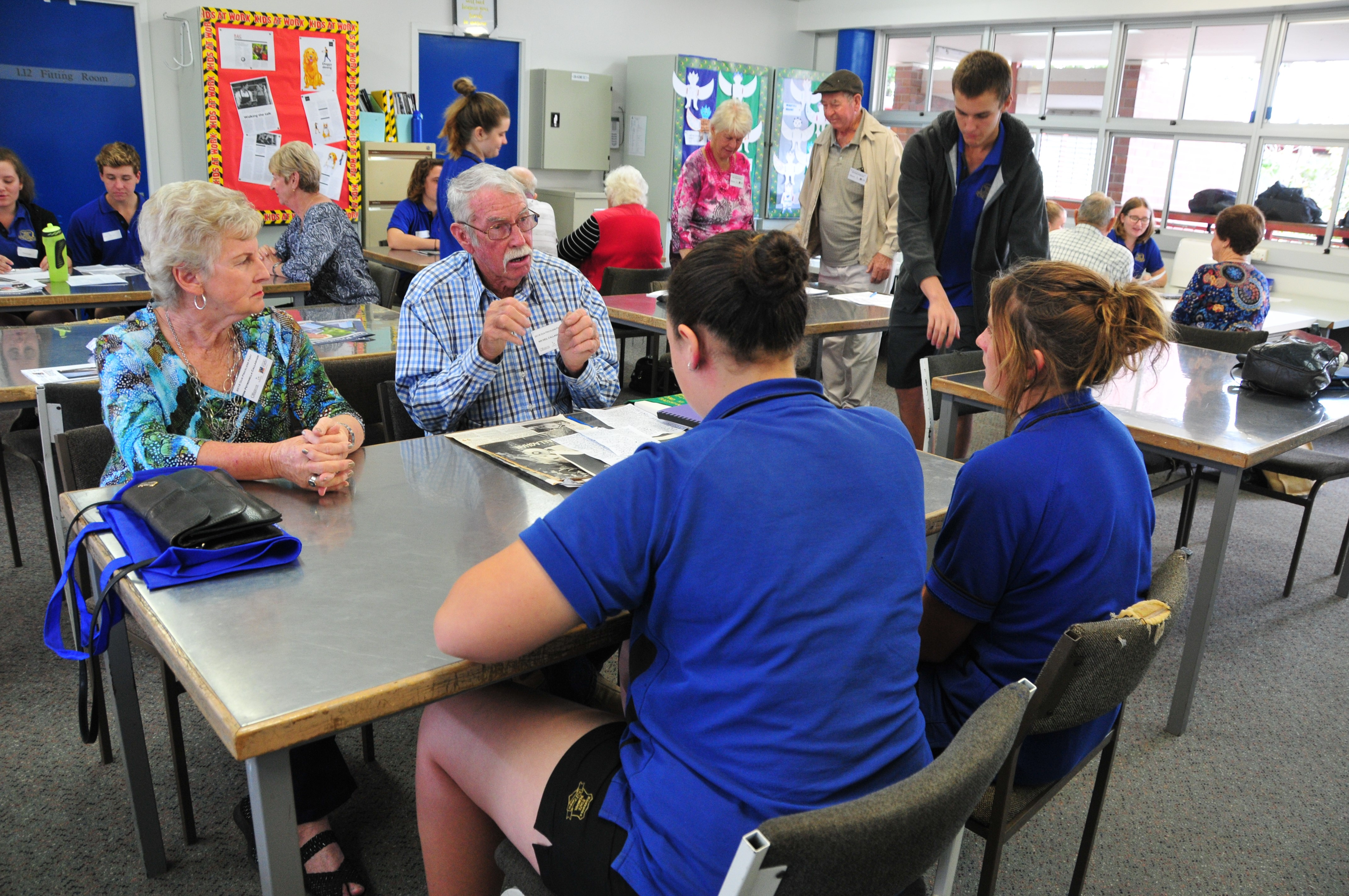 Students and Special Seniors meet for interviews at Rosedale State School (Image: D Paddick)