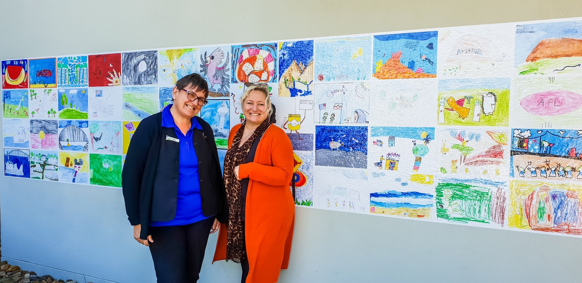 Pop up public artwork displays creativity of region's primary students
