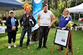 """Take pART"" - ""Intrepid Bird Explorer David Chatenborough"" artists Judy Spencer, Allan Briggs, Ben Felix and Margaret Worthington, during Ecofest 2019. Image: D Paddick"